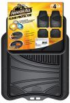 ARMOR ALL FLOOR MAT BLACK 4PC RUBBER  TRIMMABLE