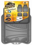 ARMOR ALL FLOOR MAT GREY  4PC RUBBER  TRIMMABLE