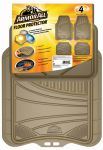 ARMOR ALL FLOOR MAT TAN  4PC RUBBER  TRIMMABLE