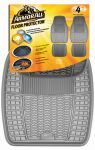 ARMOR ALL FLOOR MAT 4PC RUBBER GREY