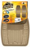ARMOR ALL FLOOR MAT 4PC RUBBER TAN