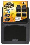 ARMOR ALL® FLOOR MAT 4PC CARPET/RUBBER BLACK