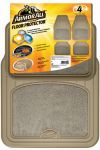 ARMOR ALL FLOOR MAT 4PC CARPET/RUBBER TAN