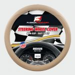 STEERING WHEEL COVER EMBOSSED BEIGE