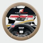 STEERING WHEEL COVER CHROME RING BEIGE