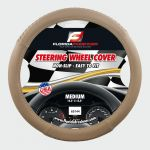 STEERING WHEEL COVER BRAIDED BEIGE