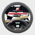 STEERING WHEEL COVER BRAIDED GREY