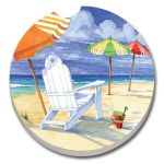 BEACH UMBRELLA AUTO COASTER