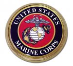 CHROME EMBLEM MARINE SEAL