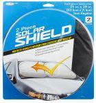 Custom Accessories 17950 Solar Shield 25 inch x 28 inch 2 pc Nylon Loop Sunshade