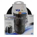 Black Collapsible Litter Bag