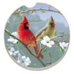BEAUTIFUL SONGBIRDS CARDINALS AUTO COASTER