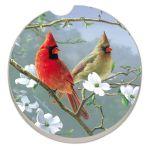 BEAUTIFUL SONGBIRDS CARDINALS AUTO COASTER