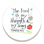 LORD IS STRENGTH AUTO COASTER