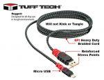 TUFF TECH 6 Ft Heavy Duty Braided Micro USB Cable 23394