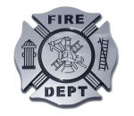 CHROME EMBLEM FIREFIGHTER