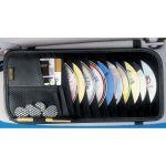 Black Vinyl Leather-Like 10 Cd/DVD Visor Organizer