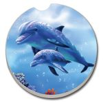 DOLPHIN WITH BABY AUTO COASTER