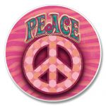 PINK PEACE AUTO COASTER