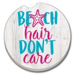 BEACH HAIR AUTO COASTER