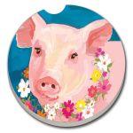 PINKY PIG  AUTO COASTER