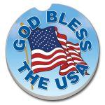 GOD BLESS USA AUTO COASTER