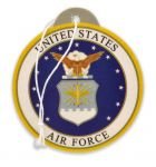 Air Force Seal Air Freshener - New Car Scent - 2 Pack