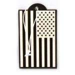 USA Flag Inverted Air Freshener - New Car Scent - 2 Pack
