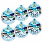 Citrus Magic 6 Pack Solid Air Freshener Beach Escape