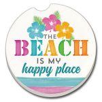 The Beach is My Happy  AUTO COASTER