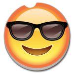 Emoji with Glasses  AUTO COASTER