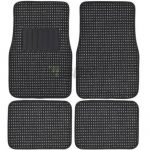 Berber Carpet 4 pcs Floor Mats Black