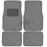 Berber Carpet 4 pcs Floor Mats Grey