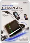 Custom Accessories 10760 5V USB and 12V Lighter Charger Plug