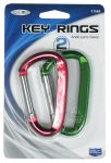 Custom Accessories 17562 Long Carabiner Key Ring Twin Pack
