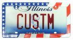Custom Accessories 92720 Clear American Flag License Plate Frame