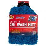 Detailer's Choice blue 2 in 1 Microfiber Chenille Wash Mitt